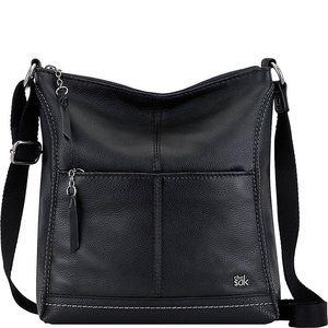The Sak Lucia Leather Crossbody Black Bag Purse